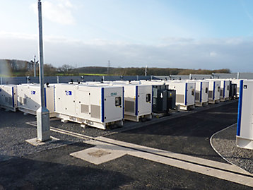 Numerous FG Wilson generator sets providing Short Term Operating Reserve (STOR) for the national grid