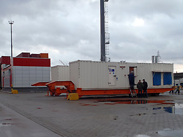 FG Wilson containerized generator set at Port Saint-Petersburg, Russia photograph