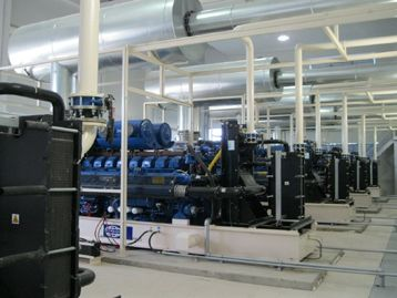 FG Wilson Generator set room at the international terminal of Milas-Bodrum Airport in Turkey photograph