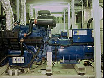 FG Wilson generaor installed in an NHS Hospital plant room photograph