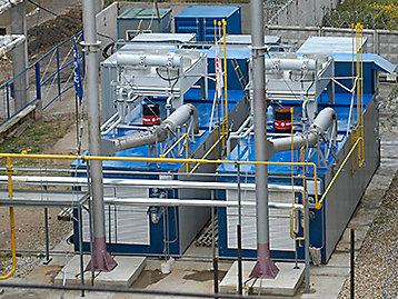 Sistemas de refrigeração em um local industrial