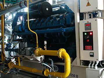 Генератор установлен со сложной комбинированной выработки тепла и электроэнергии с системой трубопроводов