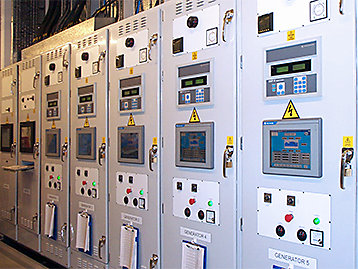 Specialised control system installed in a generator set control room