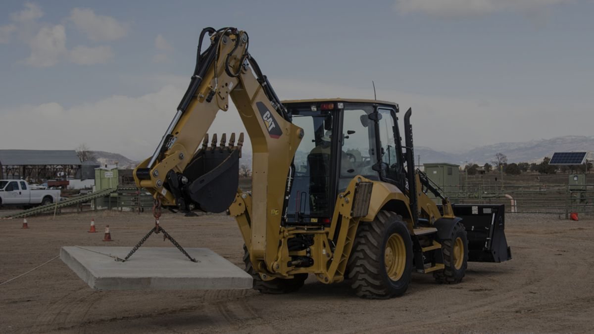 CAT F2 BACKHOE LOADERS IN ACTION