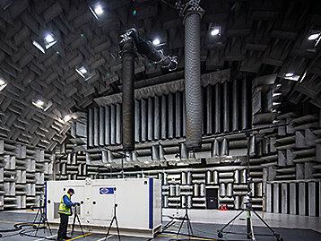 FG Wilson hemi-An-echoic Chamber for sound testing