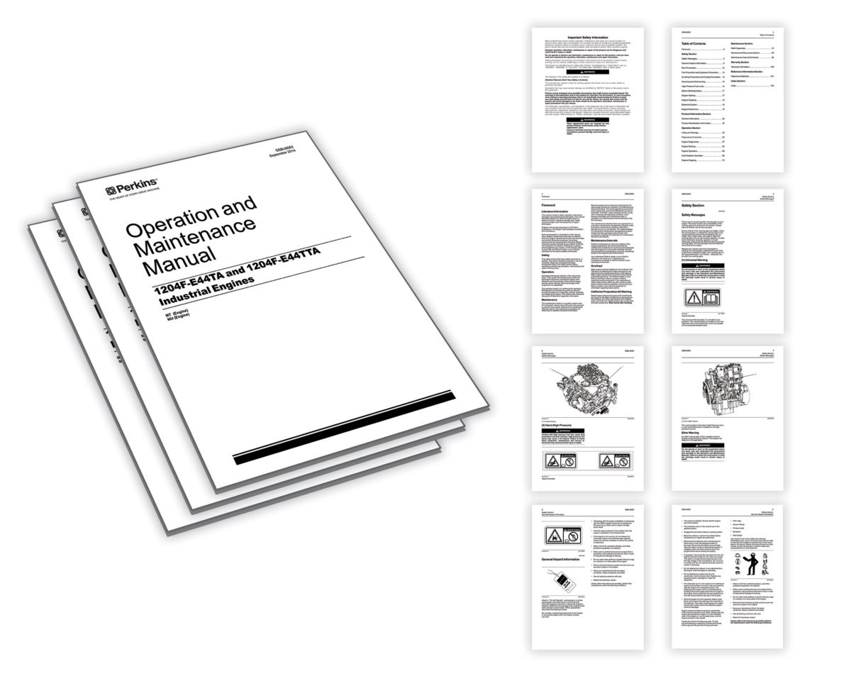 Operation and maintenance manuals Perkins Engines