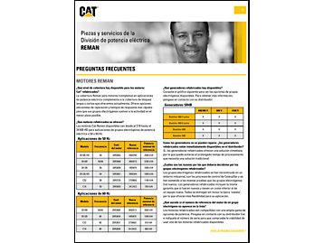 Servicio de postventa de la División de energía eléctrica Cat®: productos refabricados