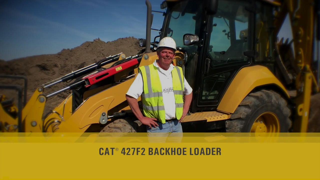 CAT F2 BACKHOE LOADERS IN ACTION