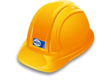 FG Wilson yellow hard hat