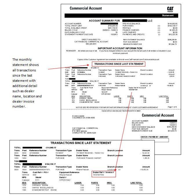 Exemple d'un compte à facturation avec relevé