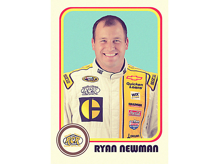 No. 31 driver Ryan Newman wearing vintage-inspired fire suit