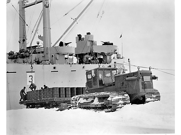 Caterpillar equipment is used for scientific development in Antarctica.