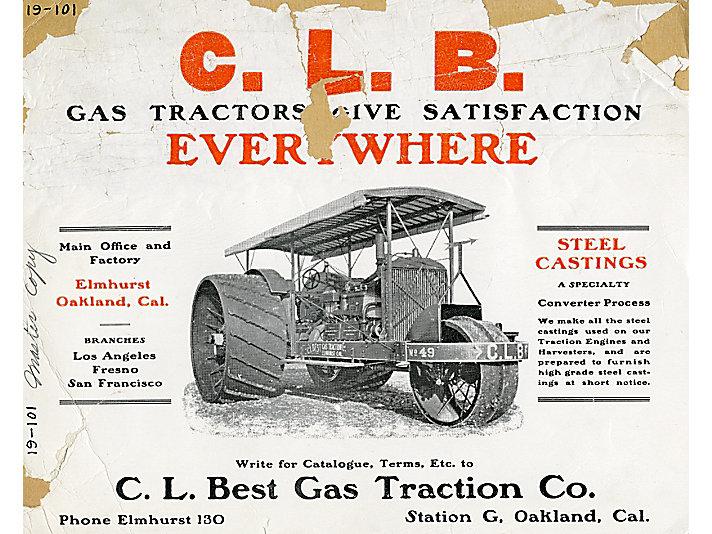 C. L. Best公司的轮式拖拉机广告