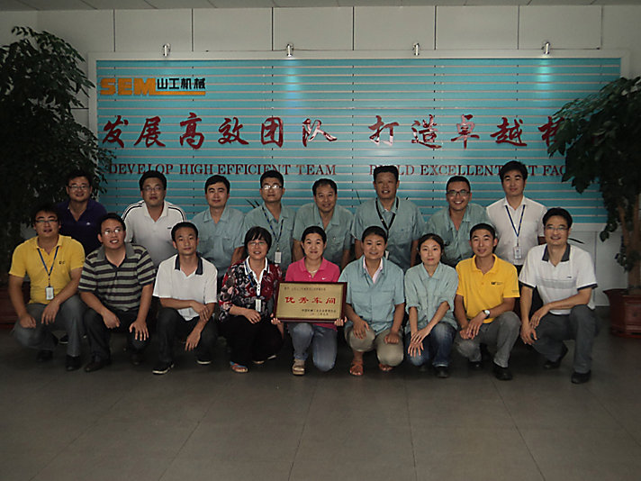 Shandong SEM employees pose for a picture.