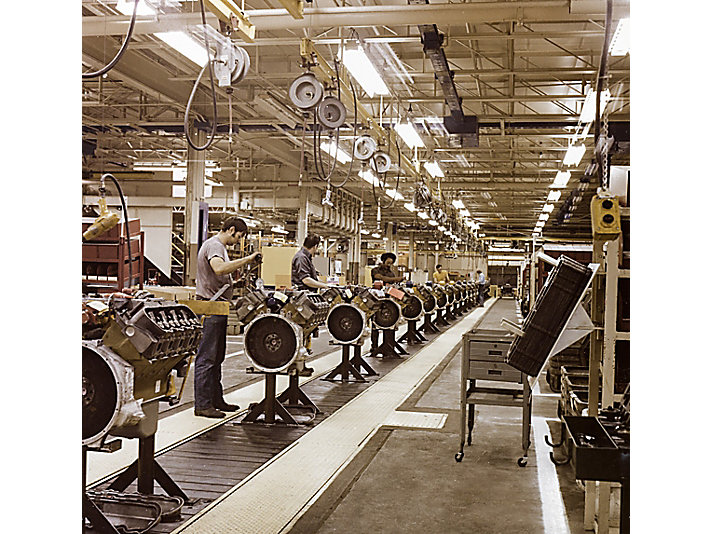Photo from the assembly line, 1973.