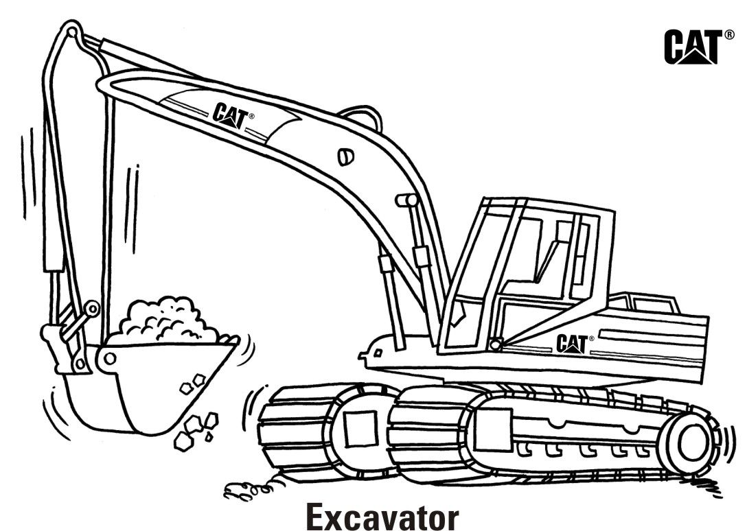 Construction machinery coloring pages - Coloring Pages