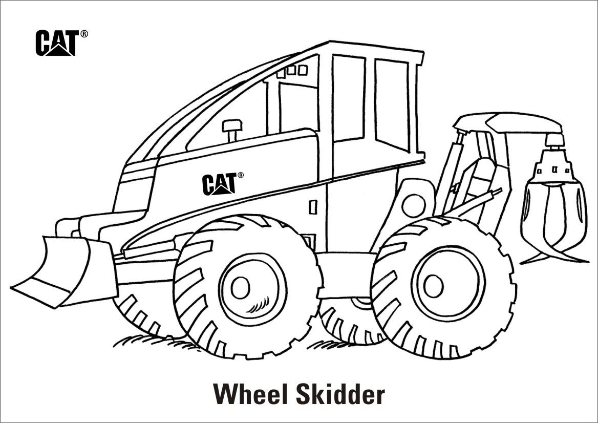 Caterpillar Curriculum And Activities Combine Coloring Pages Grapple Skidder Page