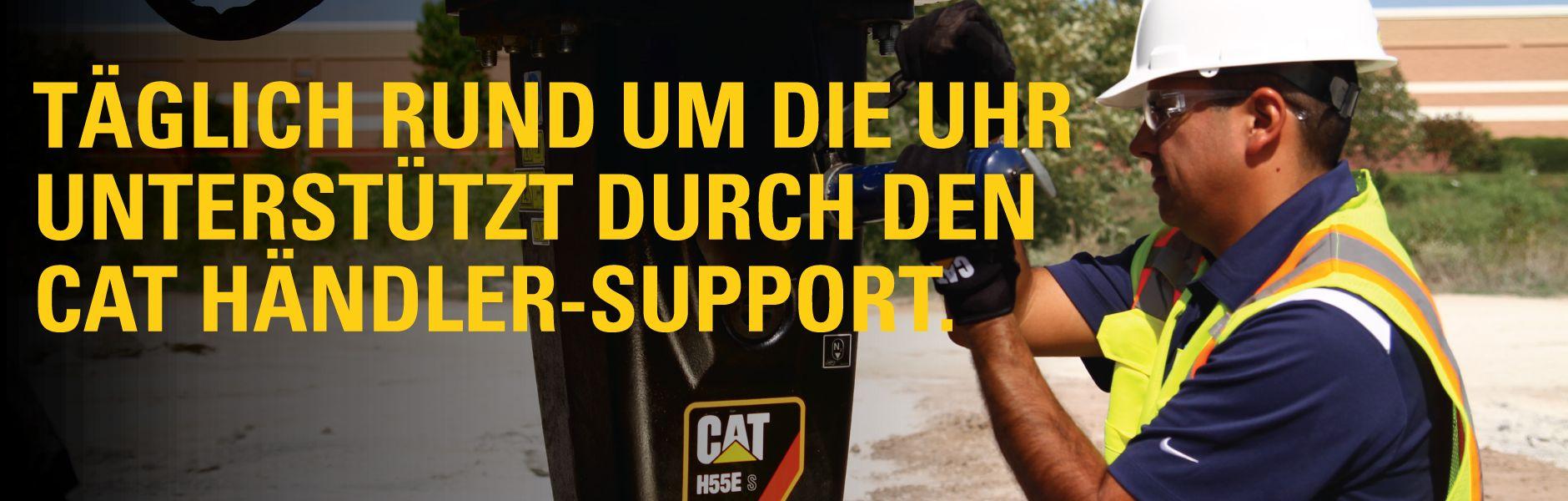Täglich rund um die Uhr unterstützt durch den CAT Händler-Support.