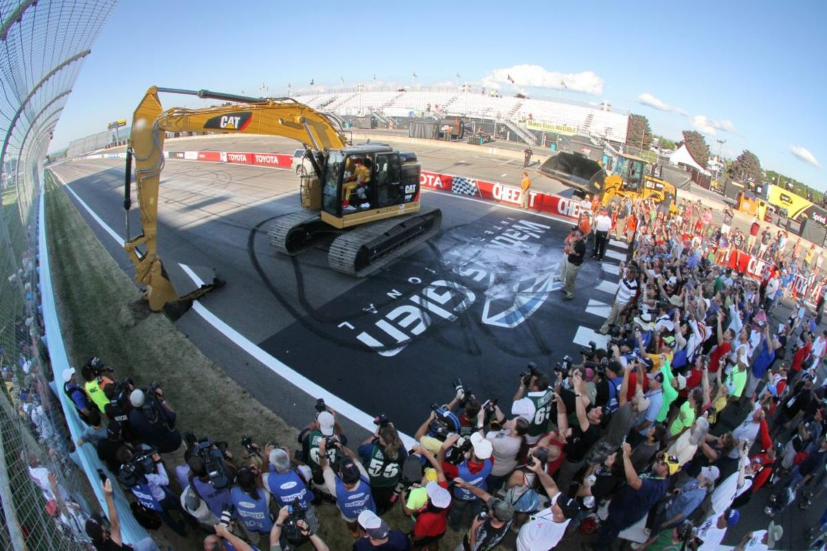 NASCAR Driver Tears Up the Track with Cat Excavator