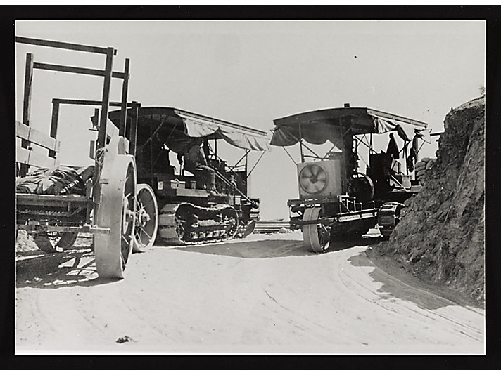 c. 1908 - Jess helped design early Holt gasoline tractors that worked on the Los Angeles Aqueduct.