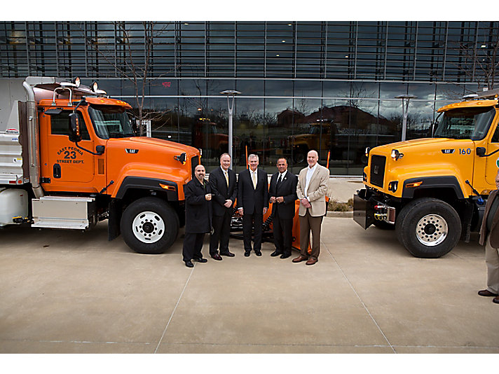 Both Peoria and East Peoria purchased a Cat® CT681 vocational truck for snow removal