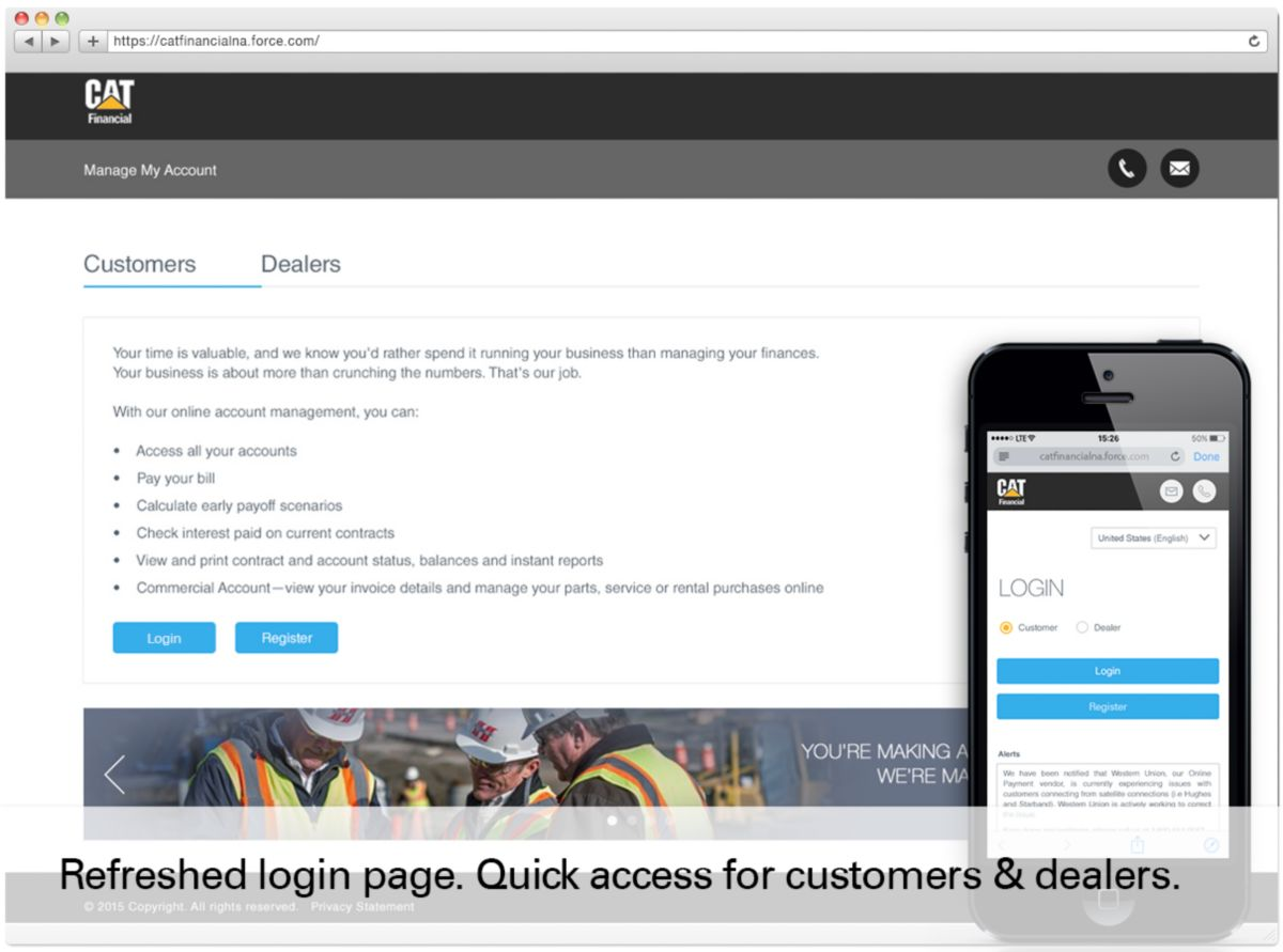 quickly login or register