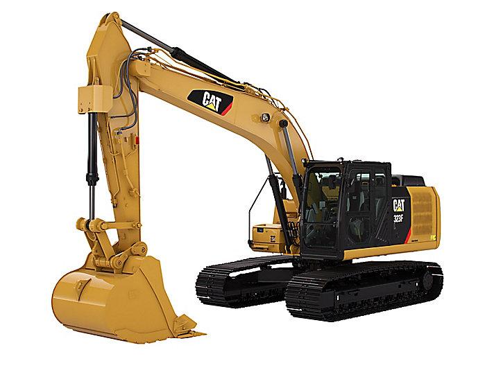 Middelgrote hydraulische graafmachine 323F L