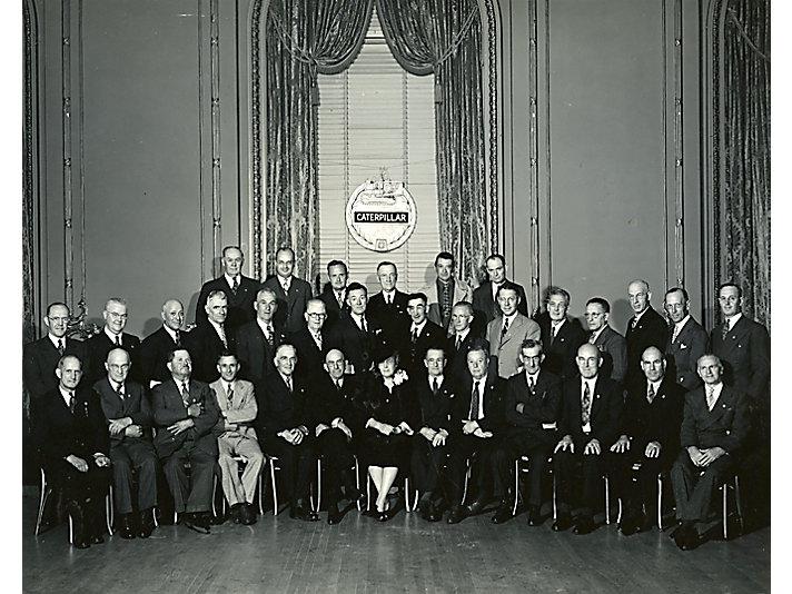 Caterpillar Service Emblem Award Banquet Honorees, 1944.