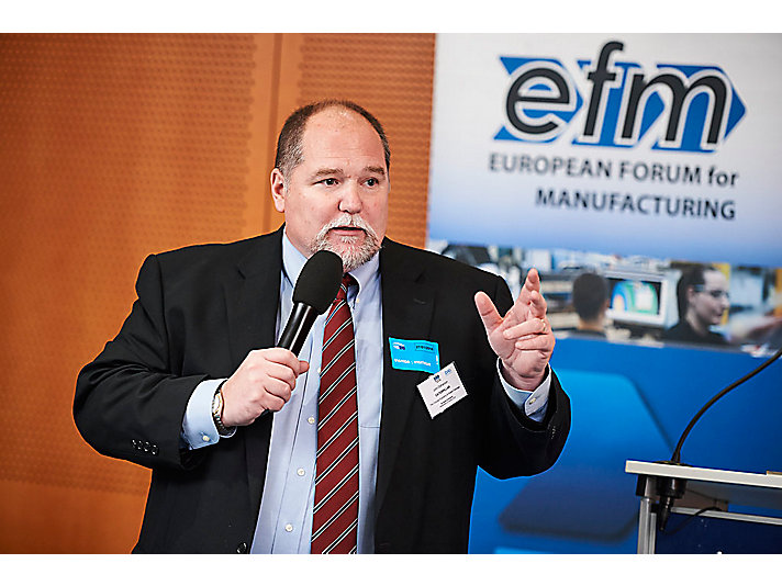 Caterpillar Market Access Director John Disharoon address to members of the European Parliament