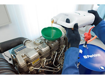 Engine benefit from Perkins oil