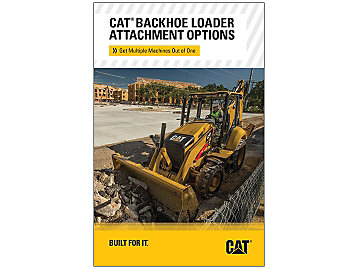 Cat Backhoe Loader Attachment Options Brochure