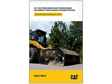 Cat Compact Loader Attachment Options Brochure