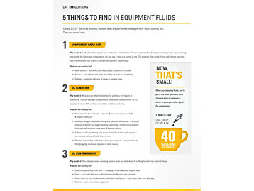 5 Things to Find in Equipment Fluids