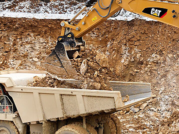 Caterpillar Excavator Buckets Material Retention