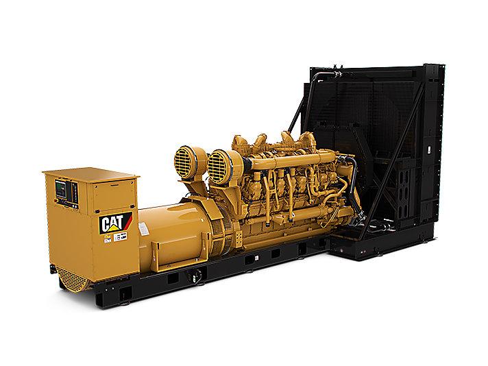 Diesel-Stromaggregate 3516E (links)