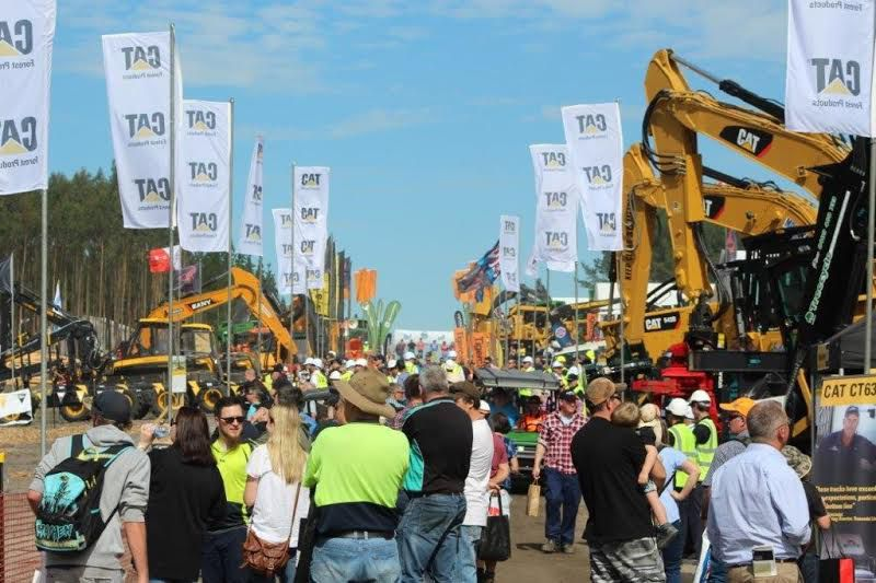 Cat 320D2 Forest Machine, New Seat Suspension Unveiled at Austimber 2016
