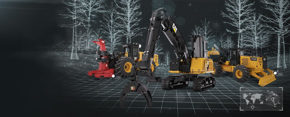 C10889404 cat logging equipment forestry equipment caterpillar Caterpillar 586C Forestry Mulcher at nearapp.co