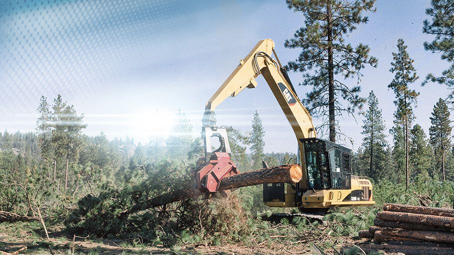 C10889405 cat logging equipment forestry equipment caterpillar Caterpillar 586C Forestry Mulcher at reclaimingppi.co