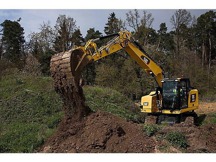 Escavatore gommato M317F
