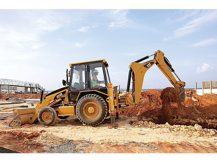 424B Backhoe Loader Sideshift