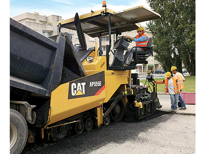 Pavimentadora de asfalto de cadenas AP555E