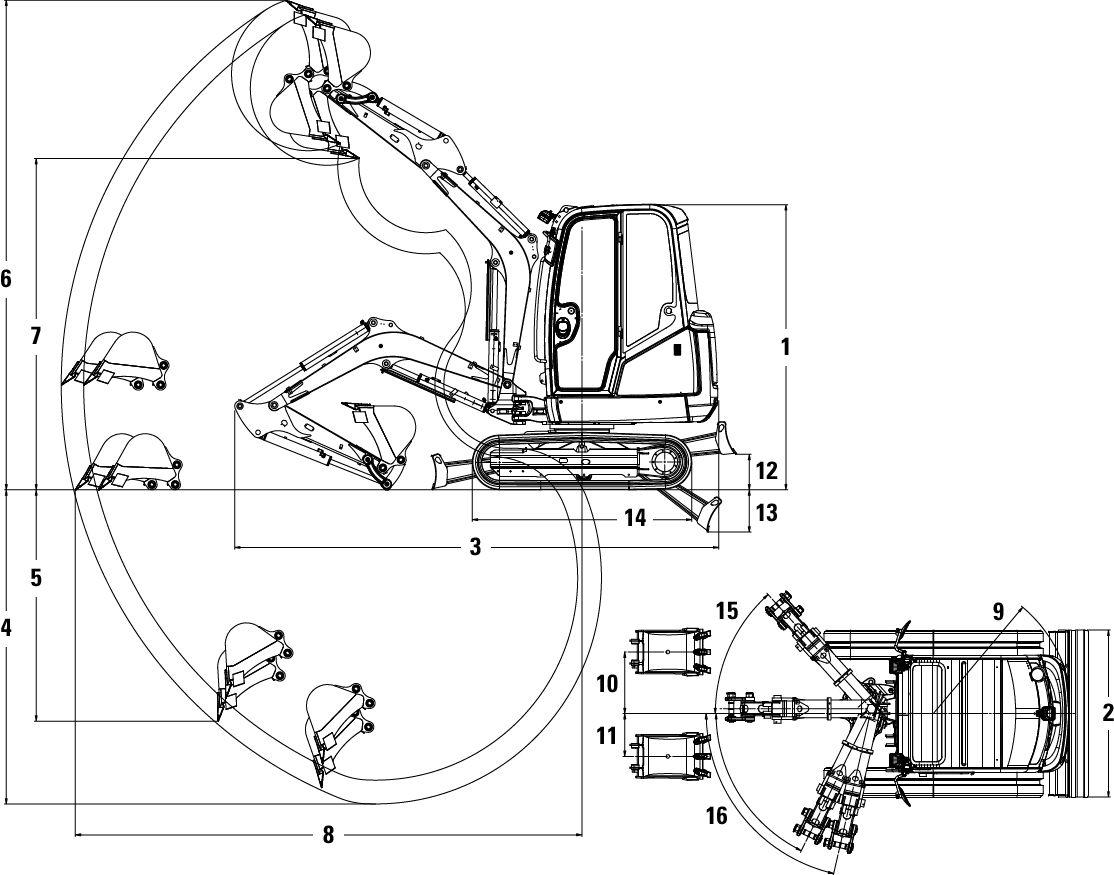 New 302 4d Mini Hydraulic Excavator For Sale