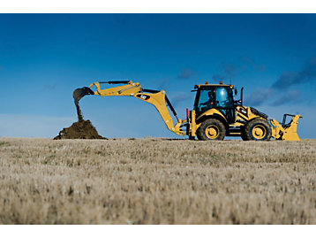Backhoe loader in action