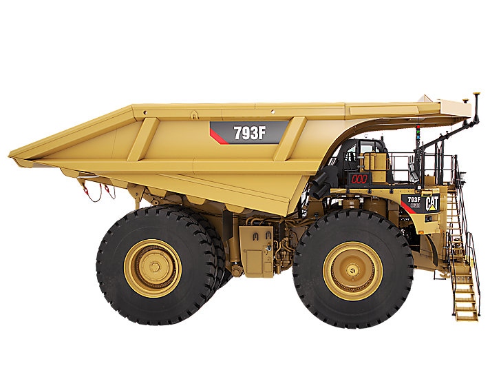 Autonomous Mining. BHP Billiton. Six autonomous Caterpillar 793F trucks at Iron Ore Mine