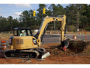 The new 308E2 mini excavator