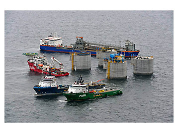 building the oil and gas platform