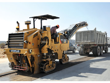 A Cat PM102 Cold Planer