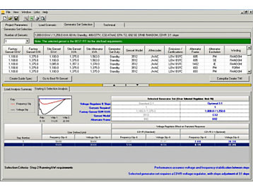 Electric Power SpecSizer Generator Sizing Software Commercial & Industrial