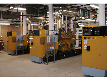 Three Cat® G3406 generator sets provide power for the Westmount complex