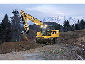 Blue angel, M318F wheeled excavator